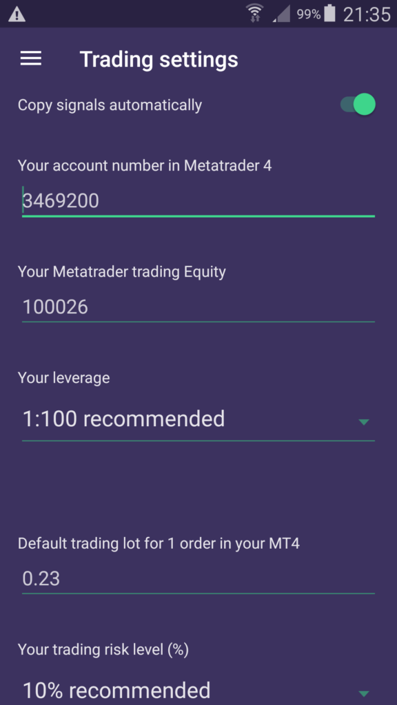 ForexTeam app update risk management tools
